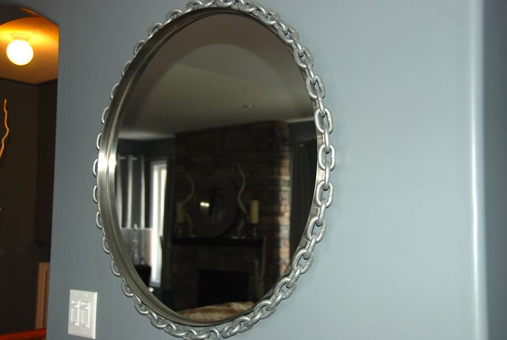 Chain linked mirror- super easy and effective!