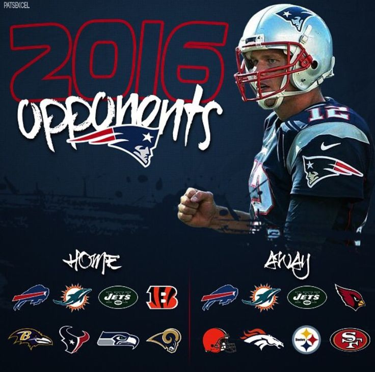 New England Patriot's 2016-2017 Schedule! #LetsGo #BringIt #PatsFan4Life