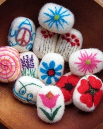 Felted soap inspiration from sheepyhollow