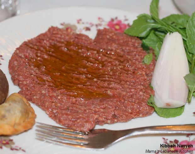 Lebanese raw kibbe recipe kibbeh nayyeh mama 39 s for Authentic lebanese cuisine