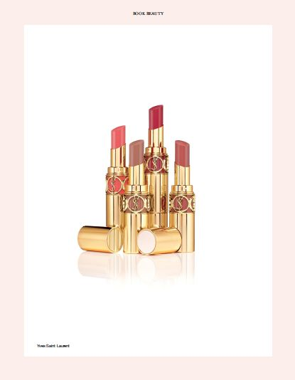 In BOOK BEAUTY: YVES SAINT LAURENT. #beauty #yvessaintlaurent #lipstick #red #pink #gold #bride #wedding @Yves Saint Laurent