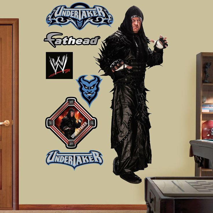 Fathead wall decal real big wwe undertaker check out this great product