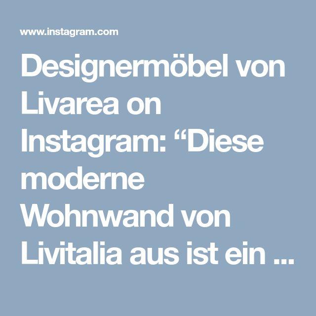 """Designermöbel von Livarea on Instagram: """"Diese moderne Wohnwand von Livitalia aus ist ein optimaler Raumteiler. Durch das drehbare TV Paneel, kann der Fernseher vom Wohnbereich zum…"""" • Instagram"""