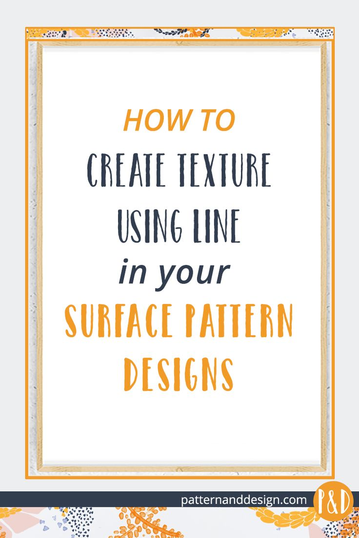 Techniques using line to create texture within your Surface Pattern Designs
