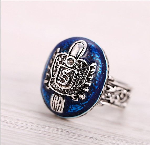 Promotion Vintage Rings Salvatore Stefan 's Finger Family Crest Ring Lapis Lazuli Ellipse Costume Ring Jewelry