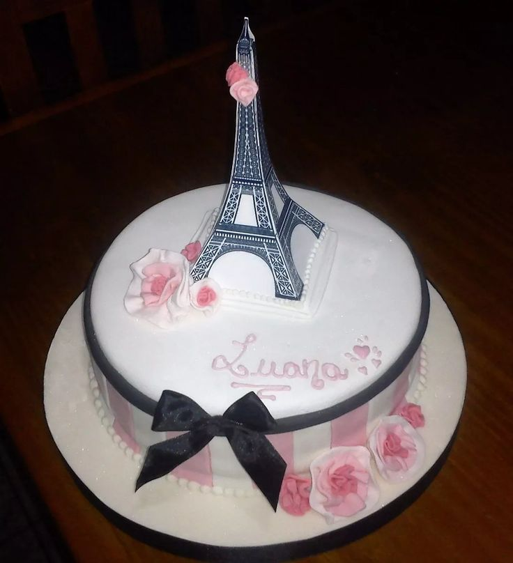 Adorno Para Tortas Torre Eiffel Paris - $ 180,00 en Mercado Libre