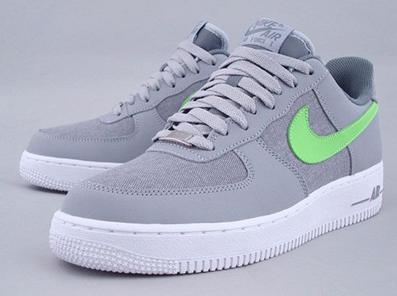 Nike Air Force 1 Low   Wolf Grey   Electric Green   SneakerNews.com