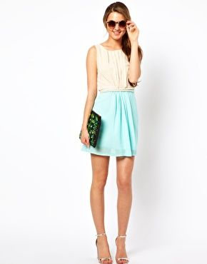 Enlarge Club L Colourblock Dress With Rope Tie $36