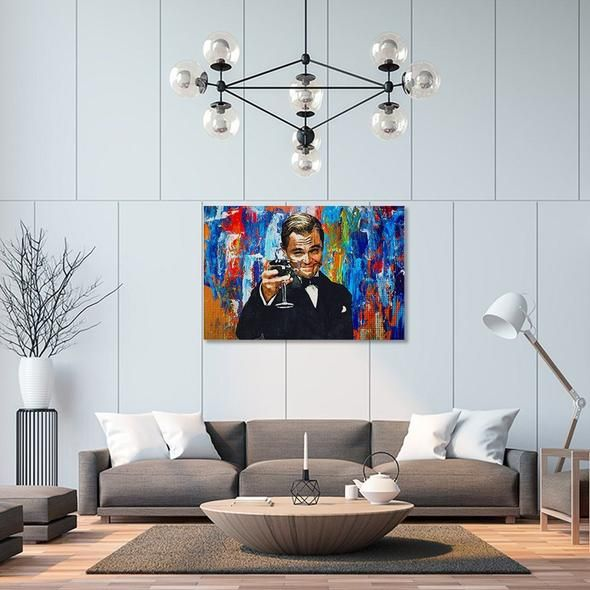 Tableau Street Art Gatsby En 2020 Deco Murale Salon Deco Peinture Salon Mur De Tapisserie