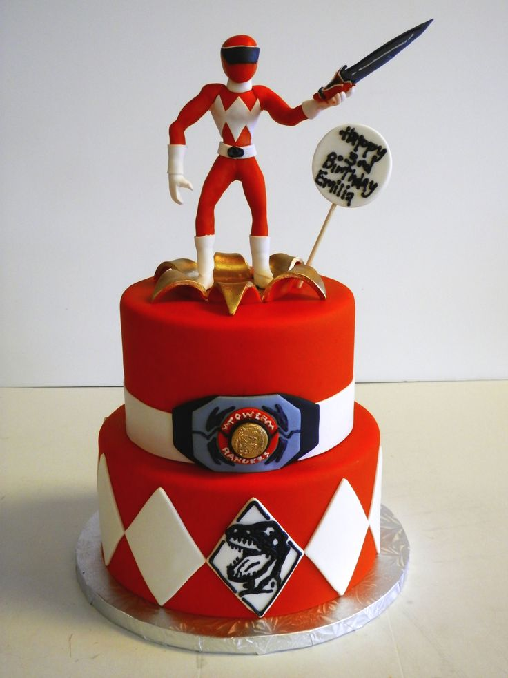 #PowerRangers birthday #cake! #RedRanger #MightyMorphin #TX
