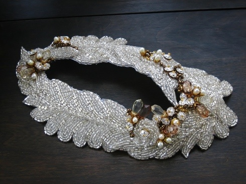 1930s style beaded head piece