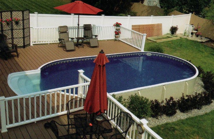 Best 25 Oval Above Ground Pools Ideas On Pinterest