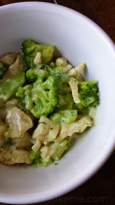 Low Carb Chicken and Broccoli Alfredo. You won't miss the noodles!