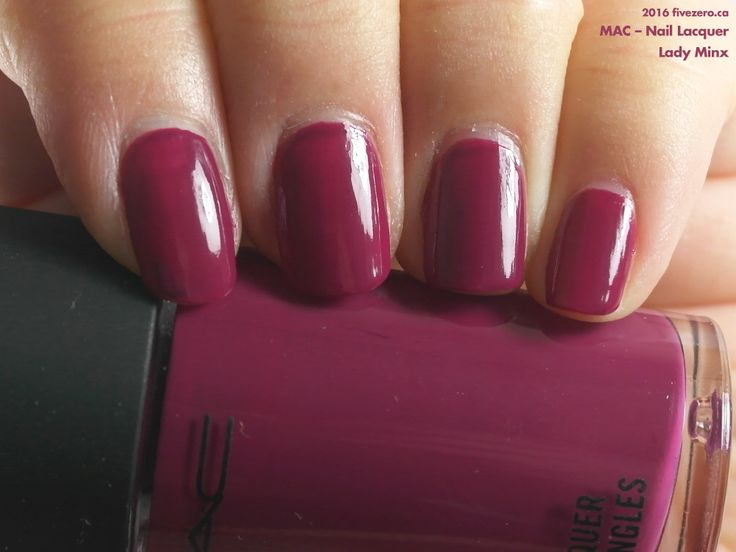 MAC Nail Lacquer in Lady Minx (swatch by fivezero.ca) [plum, purple, throwbackthursday]
