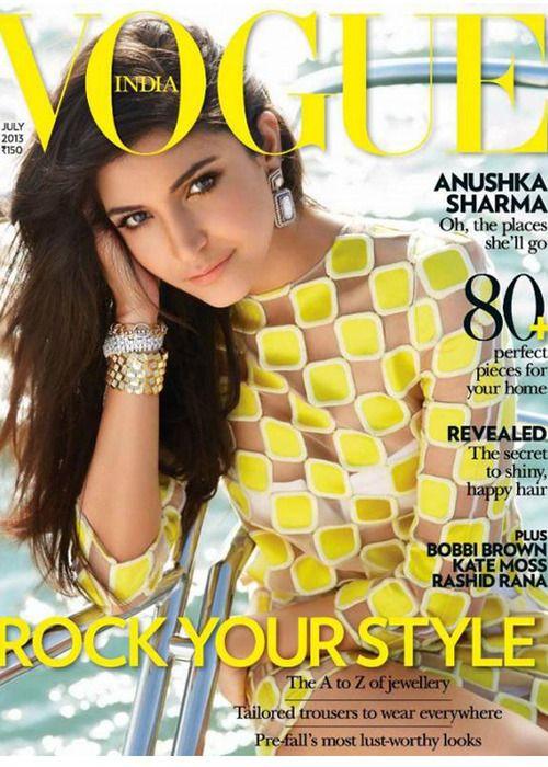 Vogue. Anushka Sharma. Bollywood. Actress.