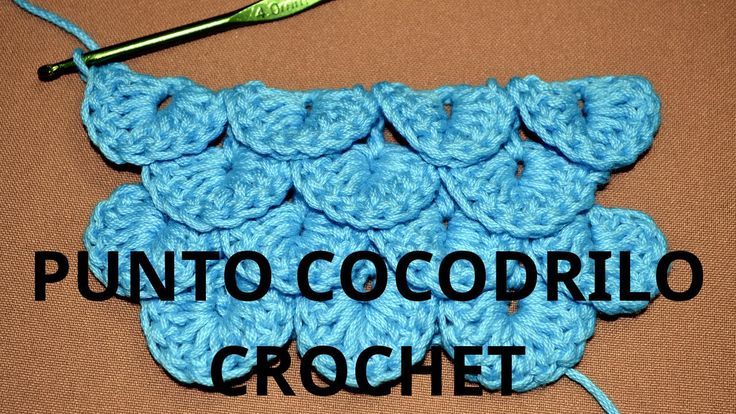 Como tejer el Punto Cocodrilo o Escama en tejido crochet tutorial paso a...