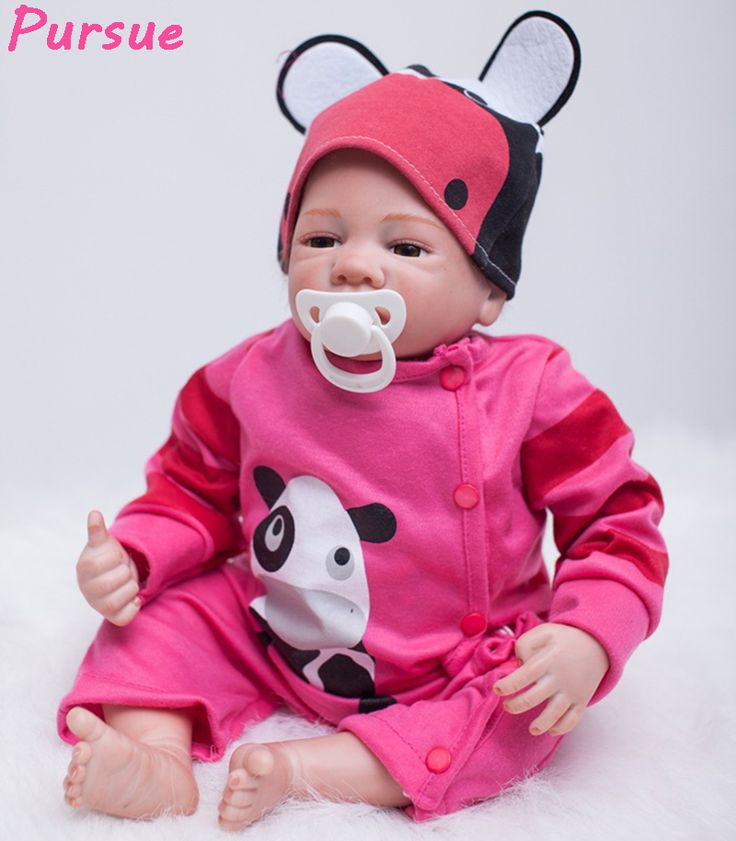 Pursue 53 cm Cheap Cute Bebe Reborn Silicone Real Boy Girl Newborn Silicone Toddler Baby Doll for Sale Red Clothes Cloth Body #Affiliate