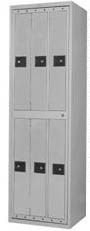 6-Compartment Garment Lockers for sale! Accommodates hanger-held garments for six individuals and is perfect for storing bulky uniforms, coats and more in business, commercial or institutional establishments. #lockers #clothinglockers #garmentlockers #uniformlockers