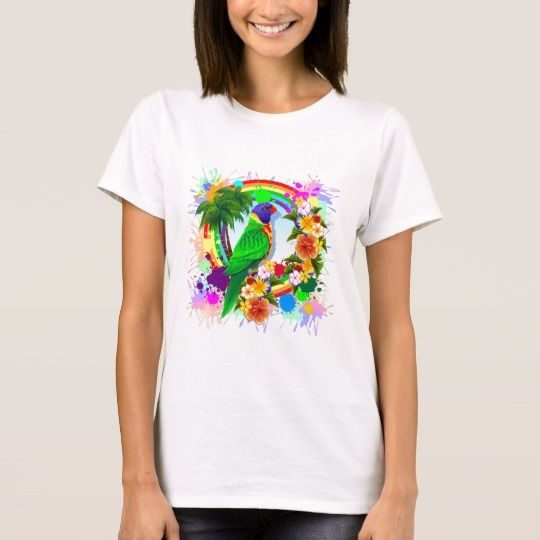 SOLD! #Rainbow #Lorikeet #Parrot #Art #TShirt | by #BluedarkArt -     https://www.zazzle.com/rainbow_lorikeet_parrot_art_t_shirt-235948530484912837    @Zazzle