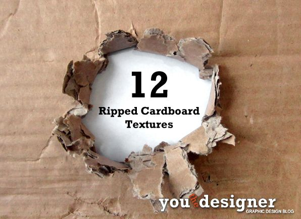 12 Ripped Cardboard Textures Free Download