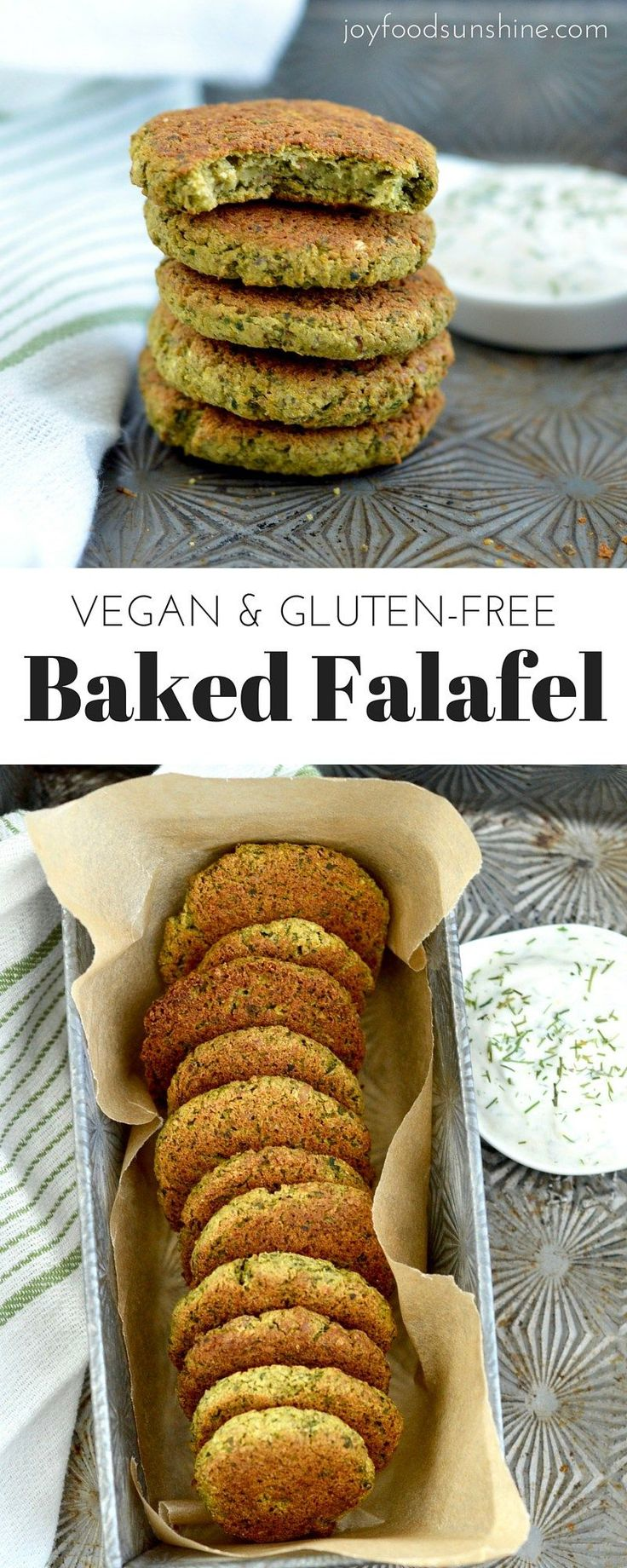 Healthy Gluten-free Baked Falafel Recipe! These delicious falafels are bold and flavorful! They are gluten-free, dairy-free & vegan! An easy meatless dinner recipe that is sure to please the whole family!