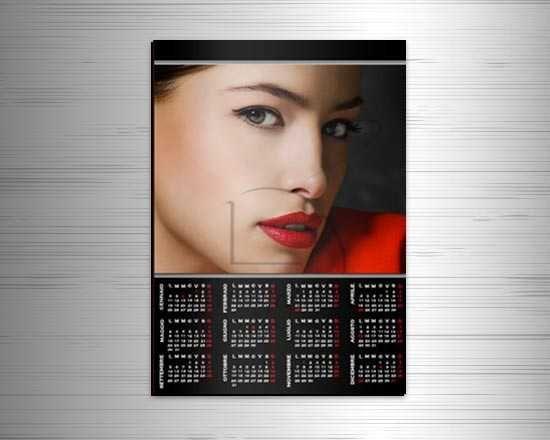 Calendario magnetico A3 Simply black