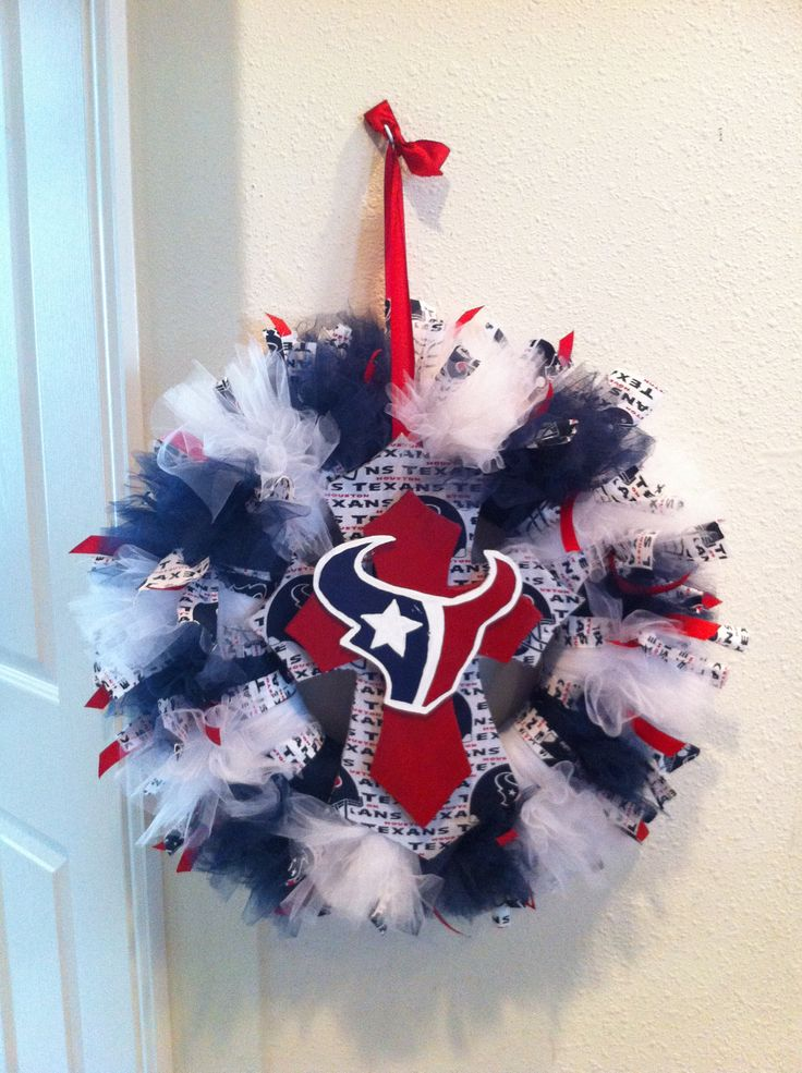My newest creation - Houston Texans wreath.