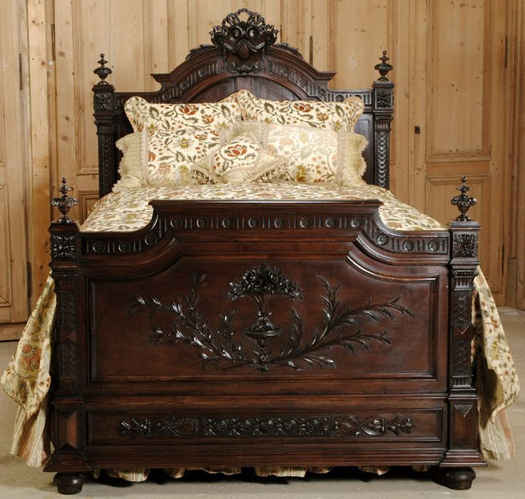 antique french henri ii queen bed - Antique Queen Bed Frame