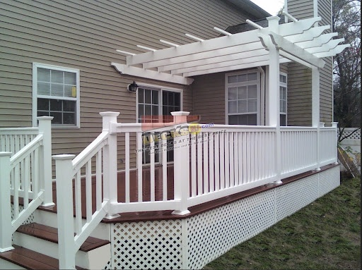 Example Of House Color Deck Wood And Lattice Unlike