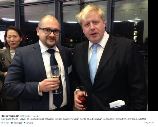 Here's a photo of Boris Johnson with a good friend of his: Sergey Nalobin – on the left – is a pro-Putin Russian intelligence agent based at the Russian embassy in London who has been exposed as th…