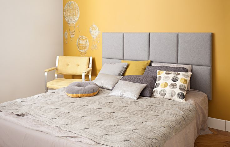 madeforbed.com, modular headboard, grey wool, desig, beautiful bedroom