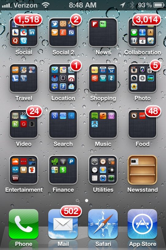 Iphone Home Screen Of A Social App Addict Robert Scoble