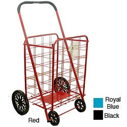 @Overstock - Shopping cart ideal for carrying groceries or laundryEasy-to-assemble personal shopping cart folds flat for storageShopping cart comes in royal blue, red and black color optionshttp://www.overstock.com/Home-Garden/Extra-Large-Heavy-duty-Shopping-Cart/3238163/product.html?CID=214117 $31.99