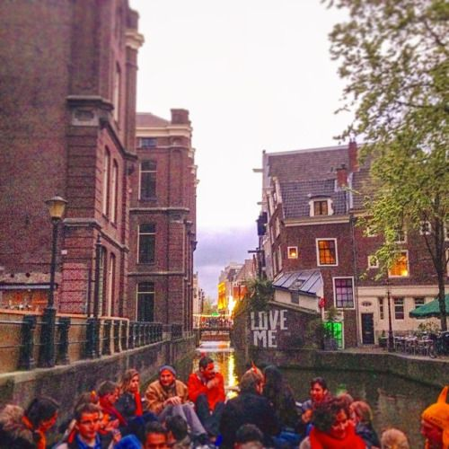 """I'm on a boat!"" #KingsDay #Amsterdam ► http://instagram.com/mooiness     