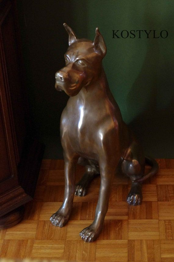 Big brass figure of german mastiff by Kostylolondon on Etsy