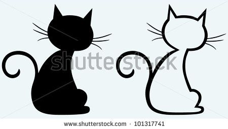 Black cat silhouette by Aleks Melnik, via Shutterstock