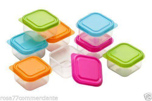 4-Mini-Contenitori-Coperchi-di-Plastica-cucina-spezzie-per-alimenti-campeggio