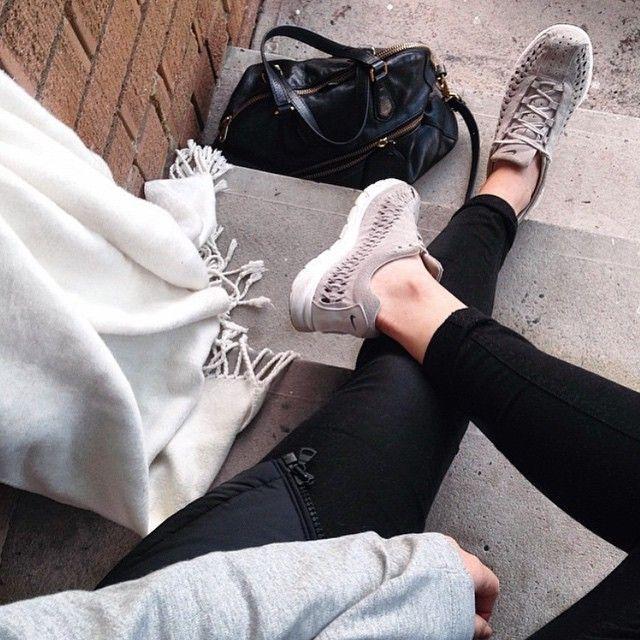 Seriously good looks from @alishayi in her @nikesportswear Mayfly Woven beauties #Nike #bigeyeslittlesoles http://ift.tt/1ErfD8X