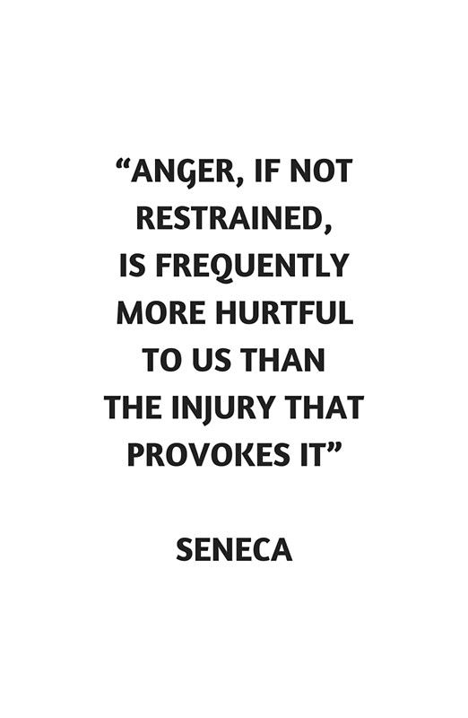 'Stoic Philosophy Quote – Seneca on Anger' Poster by IdeasForArtists