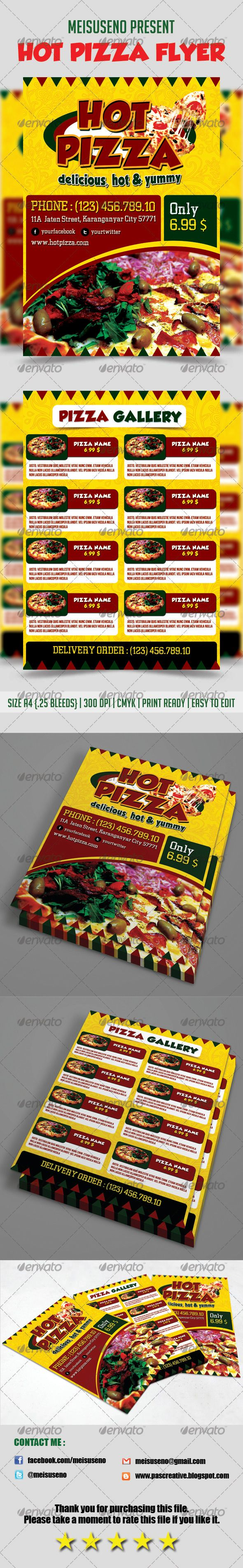 Hot Pizza Flyer Template - graphicriver sale