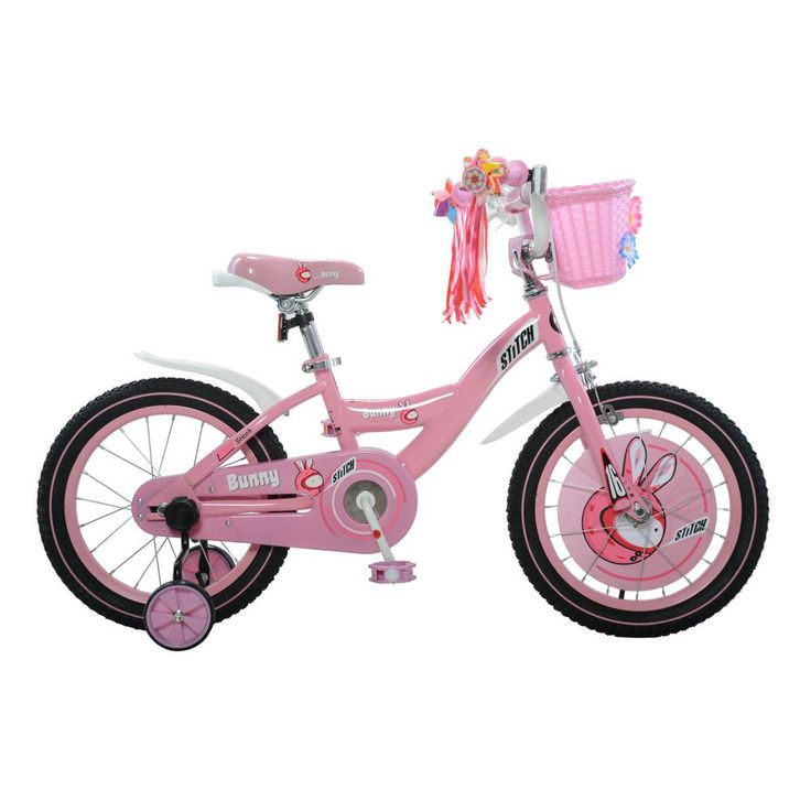 Bunny Girl's Bike, 16 in. wheels, 9 in. frame in Pink/White, Reds/Pinks