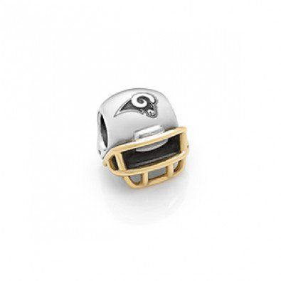 Pandora Cheap sale St. Louis Rams Football Helmet Charm
