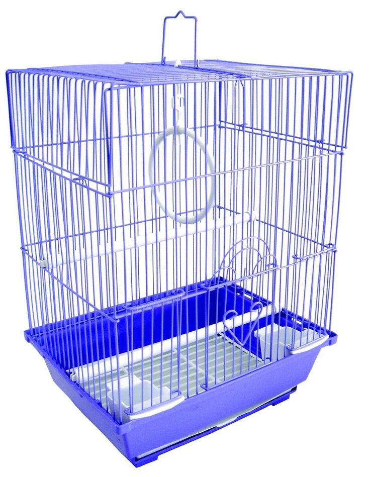 YML Flat Top Small Bird Aviary  The YML Flat Top Small Bird Aviary is convenient as it provides a low maintenance, easily cleanable and transportable alternative to the bird aviary make. This aviary features 2 feeding cups to allow your bird a selection of seed or fruit (depending on his/her dietary requirements). The aviary is secure and safe fro your pet to reside in either full-time or when playtime is over. With Assorted Colours - May Come In Green, Purple, Blue, Black Or White.