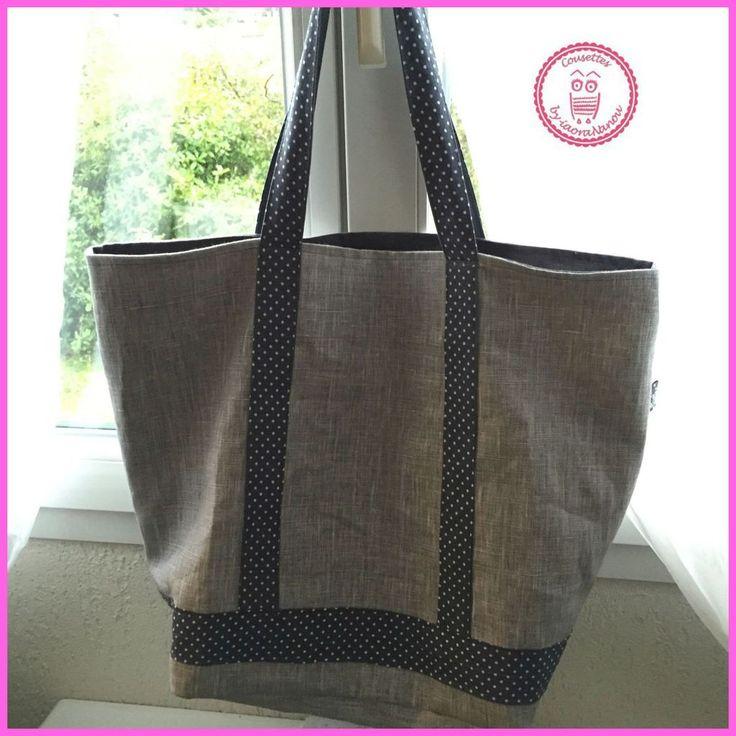 Les 25 meilleures id es de la cat gorie tuto sac cabas sur pinterest tuto sac patron sac - Tuto grand sac cabas ...