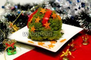 Капуста романеско по-новогоднему