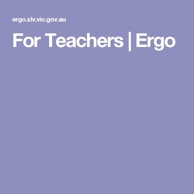 For Teachers | Ergo