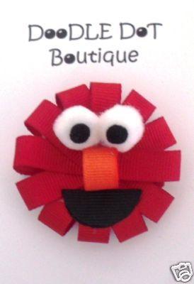 DoodleDotBoutique : Elmo Hair Bow