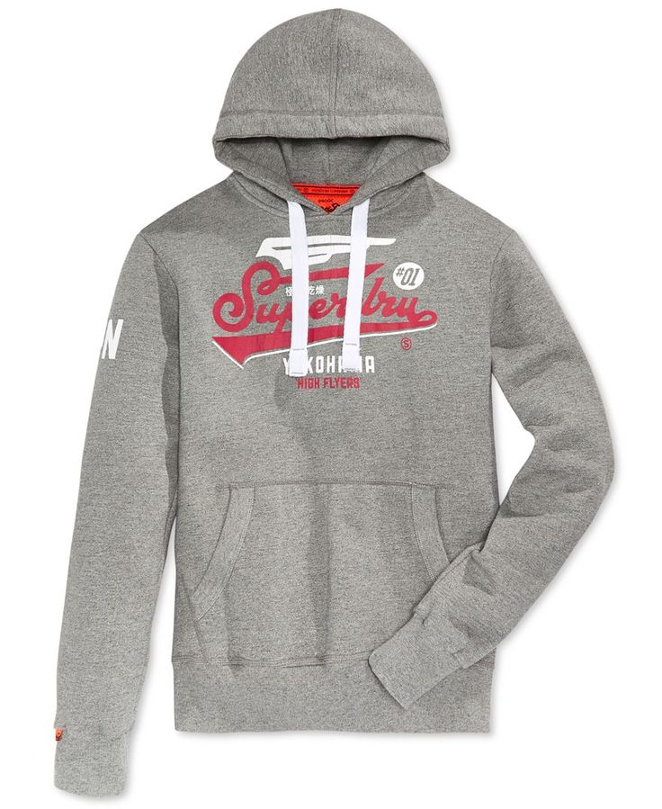 Superdry Men's High Flyers Graphic-Print Logo Hoodie