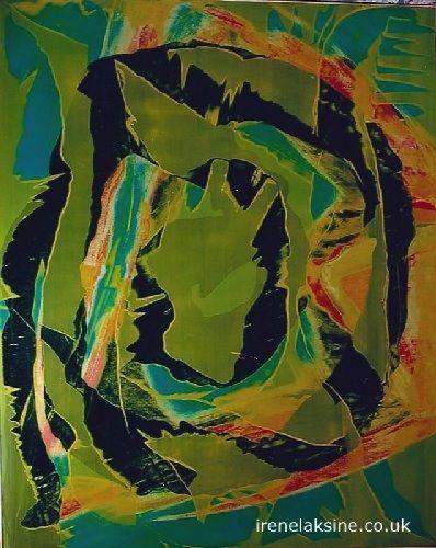 Irène Laksine oil on canvas.   #art #abstract #painting #modernart #artworks #modern #oilpainting