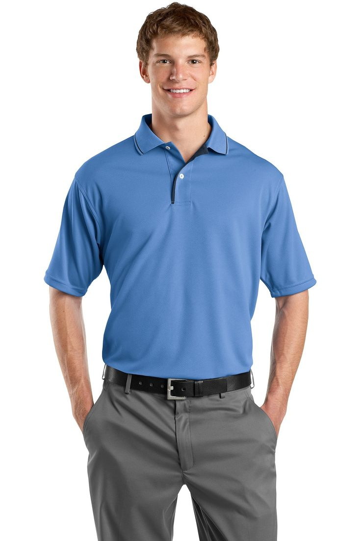 SportTek DriMesh Polo with Tipped Collar and Piping K467